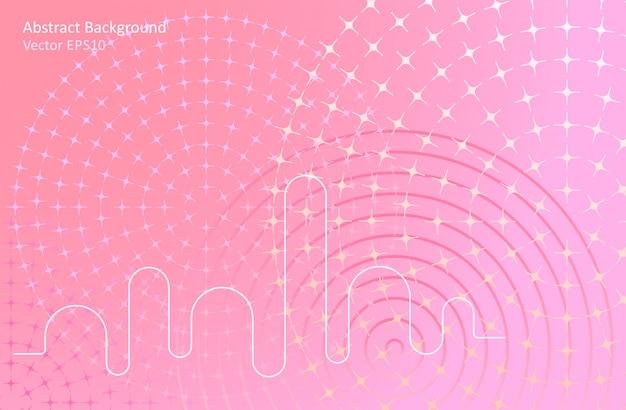Fundo rosa vetor abstrato rosa