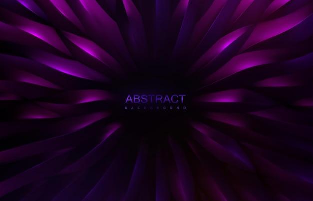 Fundo roxo abstrato com formas de escala radial concêntrica padrão