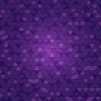 Fundo roxo claro do polígono do triângulo do vetor.