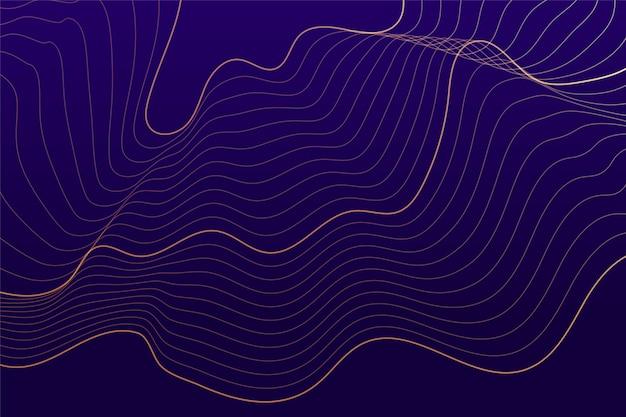 Fundo roxo com linhas fluidas abstratas