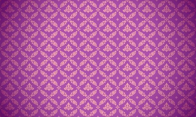 Fundo roxo com padrão tailandês luxuoso