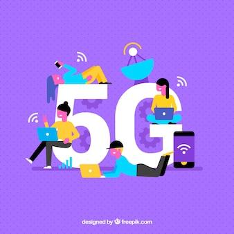 Fundo roxo de 3G