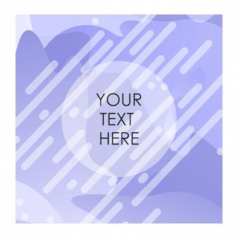 Fundo roxo e branco com tipografia vector