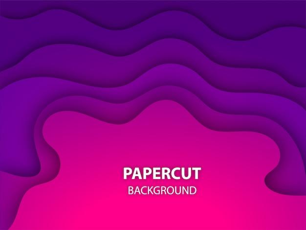 Fundo roxo e cor-de-rosa do layercut do papel da cor.