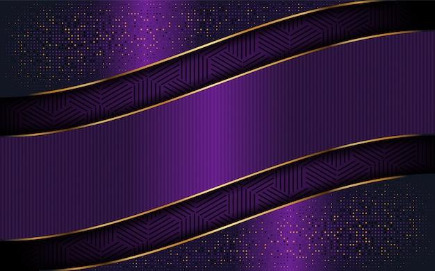 Fundo roxo elegante com forma de linha luxuoso