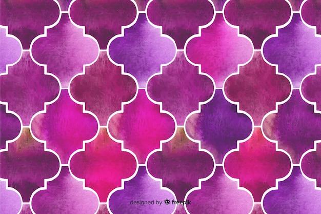 Fundo roxo elegante mosaico aquarela