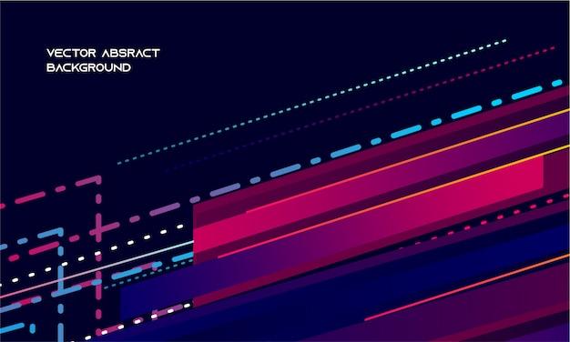 Fundo roxo escuro abstrato e movimento do ponto azul Vetor Premium
