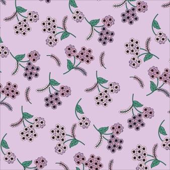 Fundo roxo flores padrão