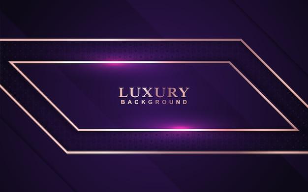 Fundo roxo luxuoso com decoração dourada
