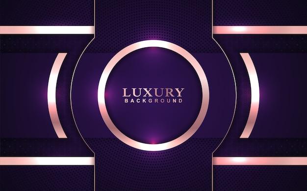 Fundo roxo luxuoso sobreposto com decoração dourada