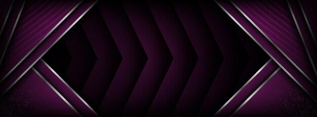 Fundo roxo moderno futurista abstrato com camada de sobreposição