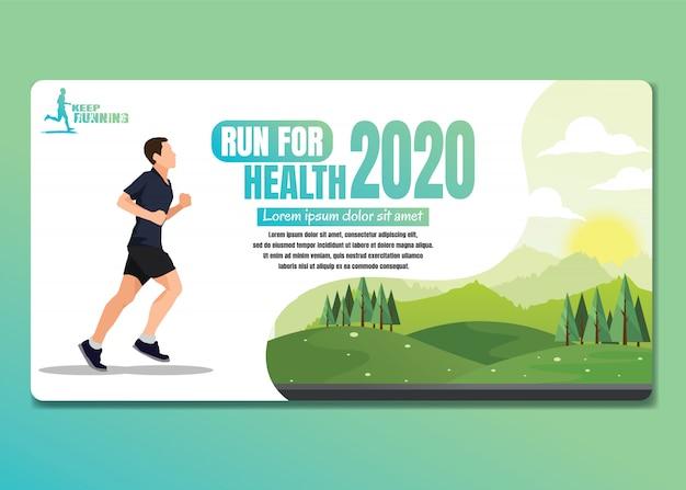 Fundo running dos esportes dos homens e das mulheres, ilustração running.