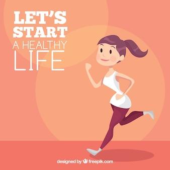 Fundo saudável da cotação da vida