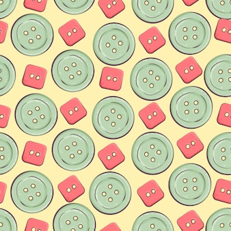 Fundo sem costura com botões coloridos