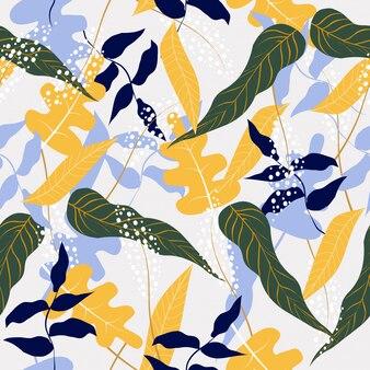 Fundo sem costura padrão floral abstrato