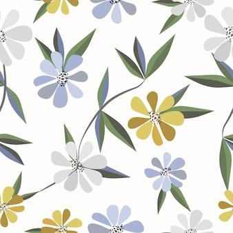 Fundo sem costura padrão floral fofo
