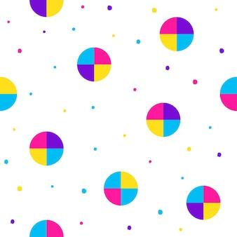 Fundo sem emenda abstrato. padrão de amostra futurista moderno para cartão de aniversário, convite para festa, papel de parede, papel de embrulho de férias, pôster de venda de loja, tecido, impressão de bolsa, camiseta, publicidade de oficina