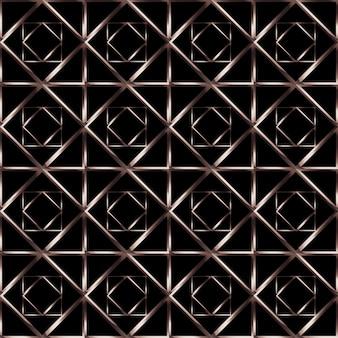 Fundo sem emenda com padrão geométrico dourado