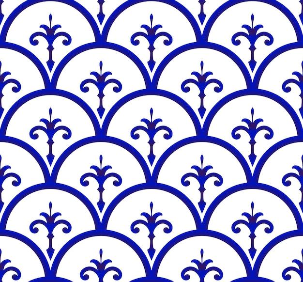 Fundo sem emenda de cerâmica padrão
