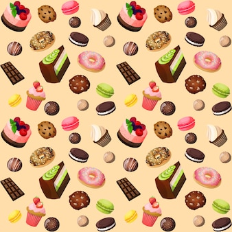 Fundo sem emenda de doces