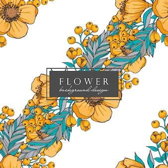 Fundo sem emenda de flores em aquarela