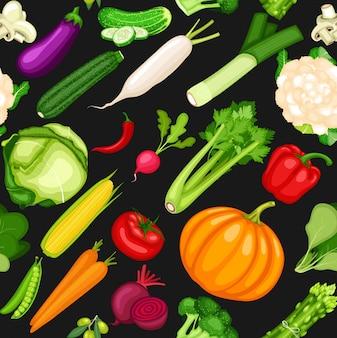 Fundo sem emenda de legumes