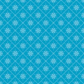 Fundo sem emenda de natal com flocos de neve