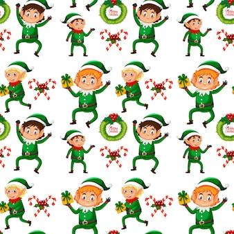 Fundo sem emenda de natal elf