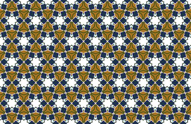 Fundo sem emenda de padrão árabe em vetor de pano de fundo de ornamento muçulmano geométrico de estilo islâmico