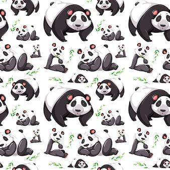 Fundo sem emenda de urso panda