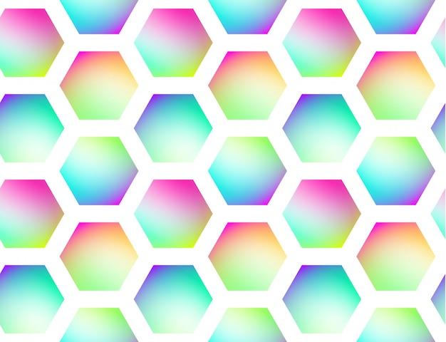 Fundo sem emenda de vetor geométrico holográfico