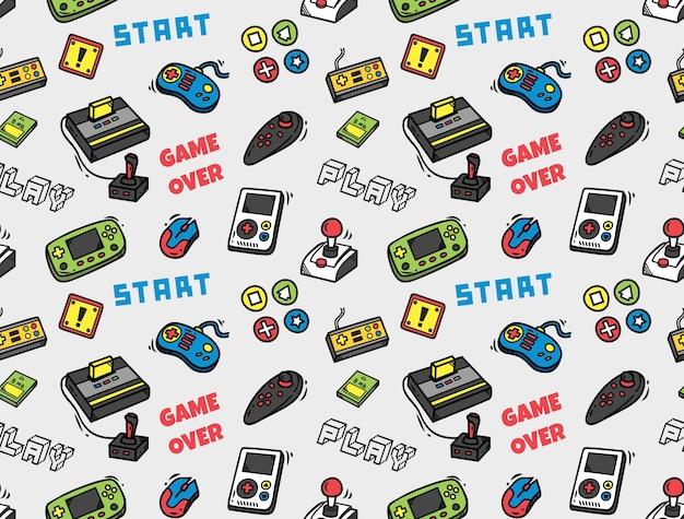 Fundo sem emenda de videogame