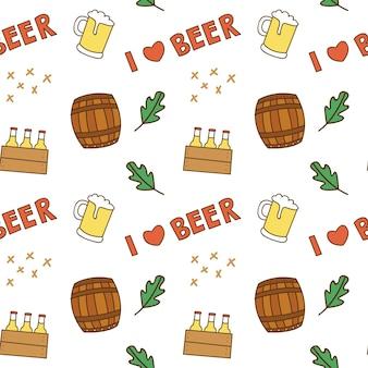 Fundo sem emenda do amante de cerveja tema