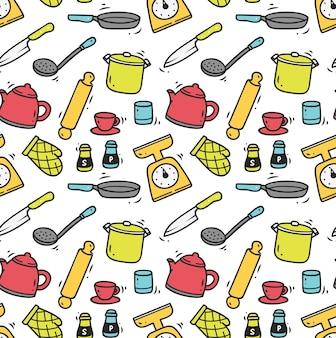 Fundo sem emenda do utensílio de cozinha