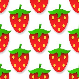 Fundo sem emenda do vetor com morangos para seus produtos e negócios. vetor
