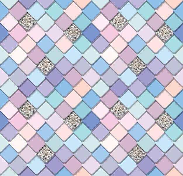 Fundo sem emenda em mosaico na moda
