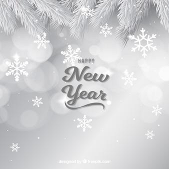 Fundo simples de ano novo de prata