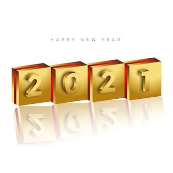 Fundo simples e moderno de feliz ano novo de 2021