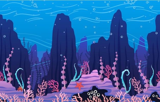 Fundo subaquático com plantas
