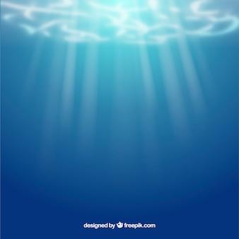 Fundo subaquático em estilo realista