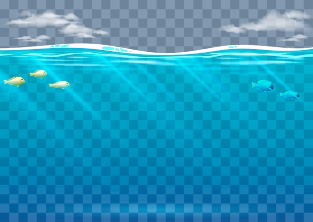 Fundo subaquático em gráficos vetoriais