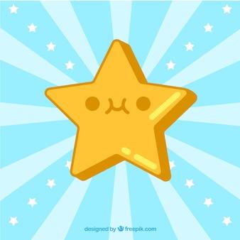 Fundo sunburst com linda estrela