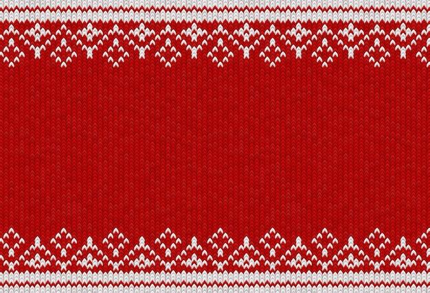 Fundo tecido vermelho e branco com padrão de tecido de malha