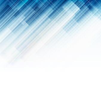 Fundo tecnológico abstrato azul