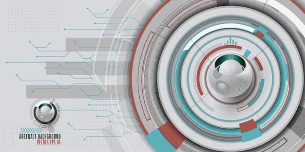Fundo tecnologico abstrato com vários elementos tecnologicos.