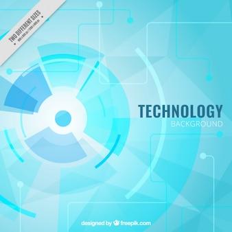 Fundo tecnológico azul claro
