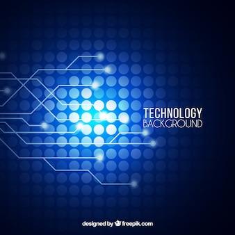 Fundo tecnológico com círculos e linhas