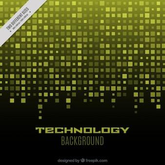 Fundo tecnológico com quadrados amarelos