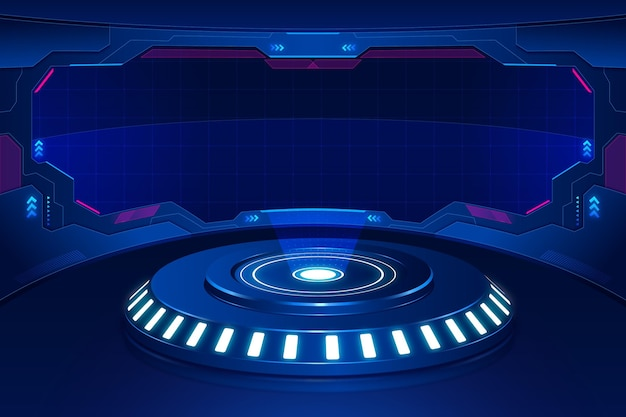 Fundo tecnológico futurista