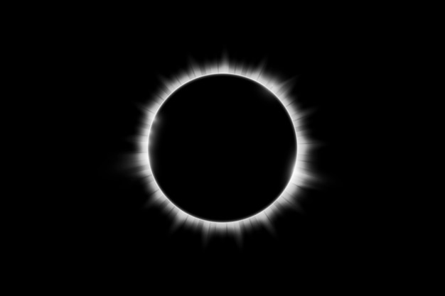 Fundo total do eclipse solar